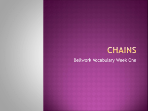 Chains Bellwork 1