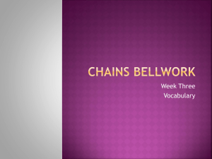 Chains Bellwork 3