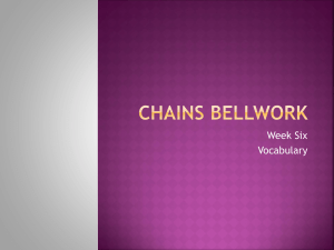 Chains Bellwork 6