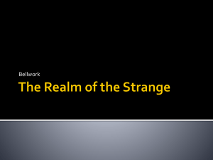 Realm of the Strange Bellwork