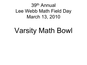 Junior/Senior Math Bowl (2010)