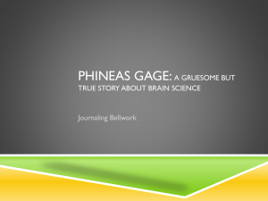 PHINEAS GAGE: A GRUESOME BUT TRUE STORY ABOUT BRAIN SCIENCE Journaling Bellwork