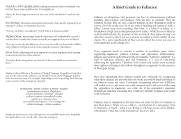 A Brief Guide to Fallacies Death by a 1000 Qualifications