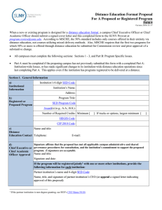 Form 4 Distance Education Form