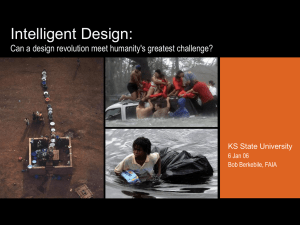 Intelligent Design: Can a design revolution meet humanity's greatest challenge?