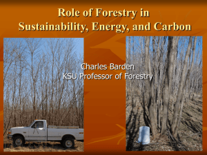 Role of Forestry in Sustainability, Energy, and Carbon Charles Barden