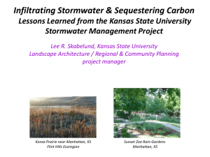 Infiltrating Stormwater & Sequestering Carbon Stormwater Management Project