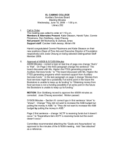EL CAMINO COLLEGE Auxiliary Services Board Meeting Minutes – 1:00 p.m.