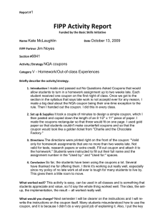 FIPP Activity Report 1 Kate McLaughlin October 13, 2009