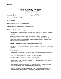 FIPP Activity Report 4 Juli Soden 12/17/09