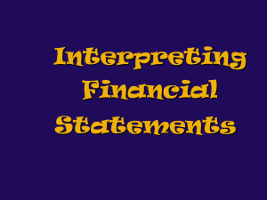 Interpreting Financial Statements