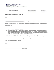 Model United Nations Student Contract