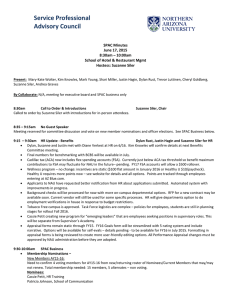 Service Professional Advisory Council SPAC Minutes June 17, 2015