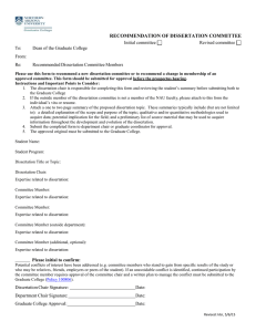 Dissertation Committee Recommendation Form