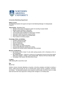 NAU Marketing Internship