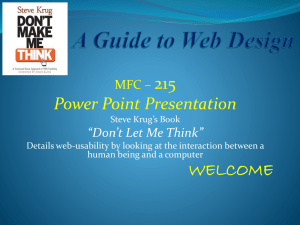 "215 Power Point Presentation MFC – ""Don't Let Me Think"""