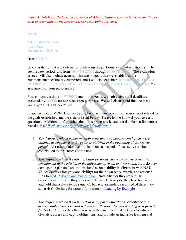 sample letter of accomplishments