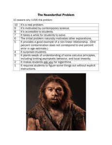 The Neanderthal Problem