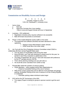 Commission on Disability Access and Design