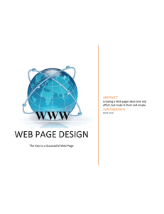 WEB PAGE DESIGN ABSTRACT Judy Bogdanets