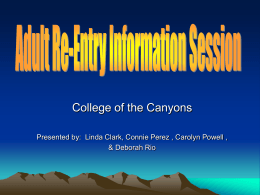 College of the Canyons & Deborah Rio