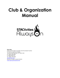 Club Organization Manual