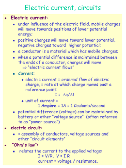 electric current