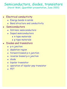 Semiconductors, diodes, transistors Electrical conductivity Semiconductors