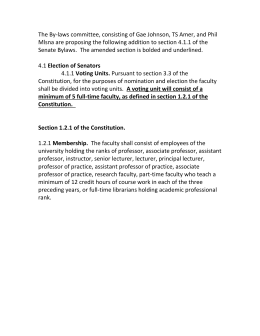 The By-laws committee, consisting of Gae Johnson, TS Amer, and Phil Mlsna are proposing the following addition to section 4.1.1 of the