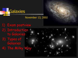 Galaxies 1) Exam postview 2) Introduction to Galaxies