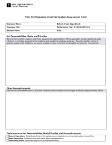 Performance Communication Evaluation Form