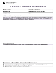 Performance Communication Self Assessment Form