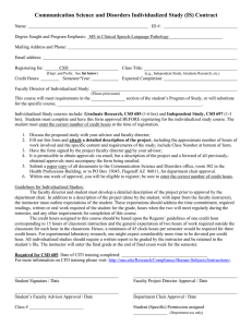 Individualized Study Contract, CSD [Word]