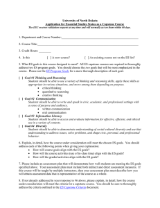 Essential Studies Capstone Validation Form