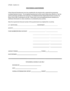 Nonfinancial Questionnaire Template