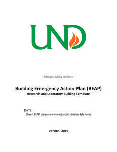 Building Emergency Action Plan (BEAP) for Labs