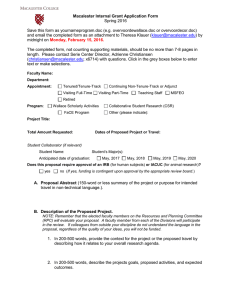 Macalester Internal Grant Application Form Spring 2016