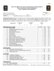 DP-56 Field Training Daily Observation Report