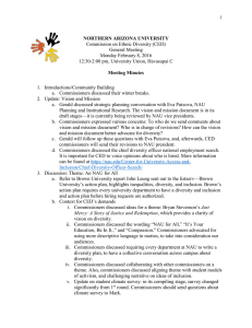 Commission on Ethnic Diversity (CED) General Meeting Monday February 8, 2016