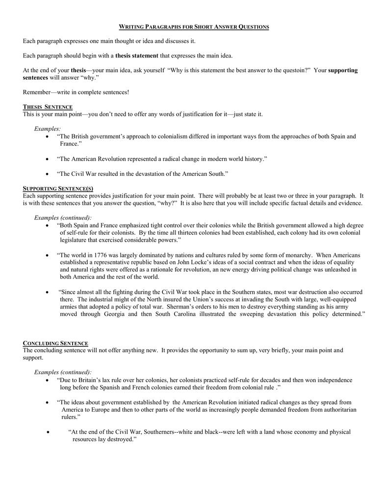 john locke thesis statement