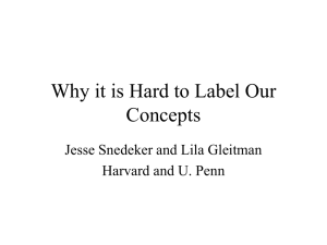 Why it is Hard to Label Our Concepts