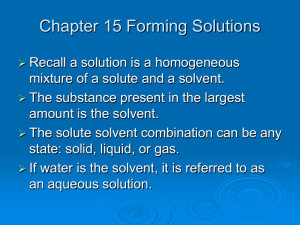 Chapter 15 Forming Solutions