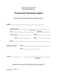 Faculty/Staff Information Update