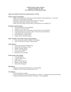 UH Hilo Faculty Congress Meeting Agenda for February 19, 2016