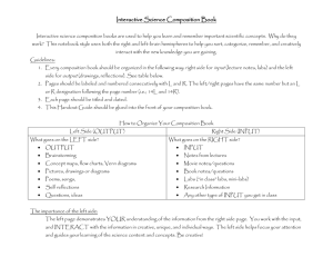 Interactive Science Composition Book