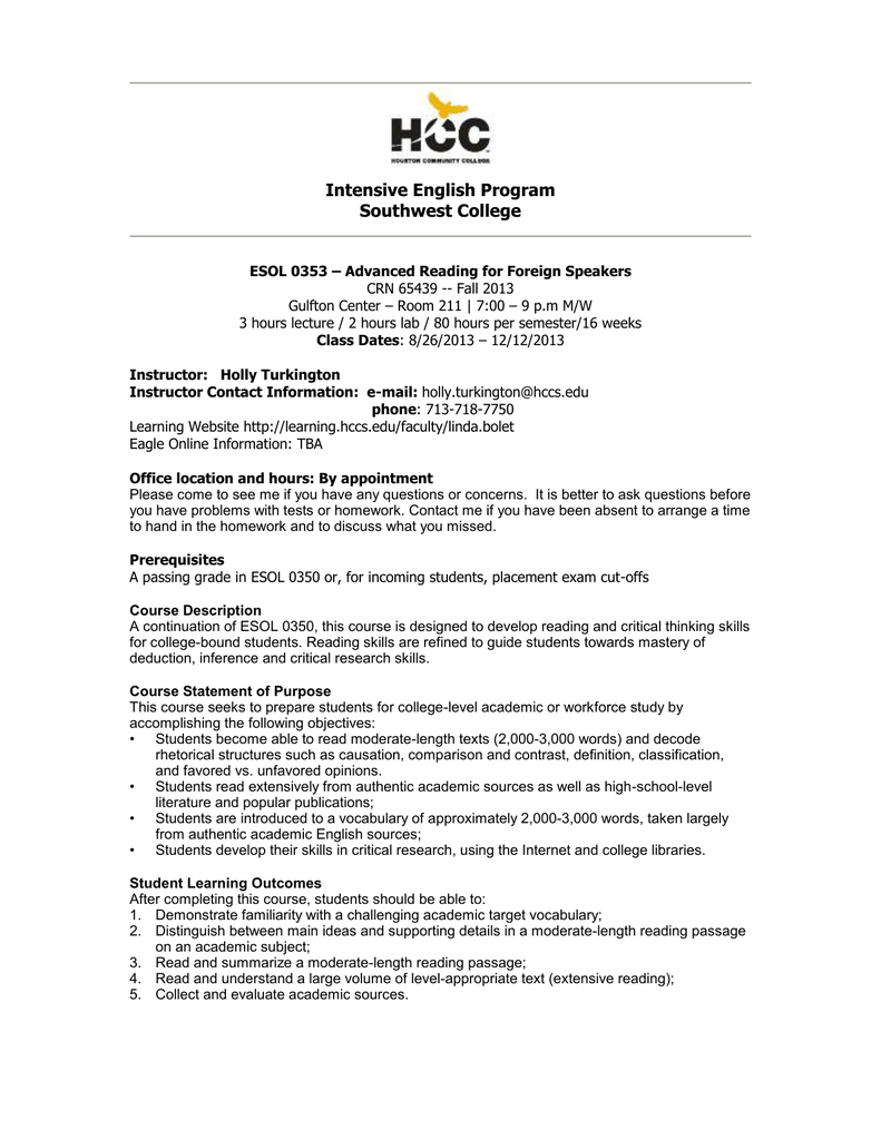 Esol study guide array hcc fall 13 esol 0353 level 4 reading syllabus doc rh studylib fandeluxe Images