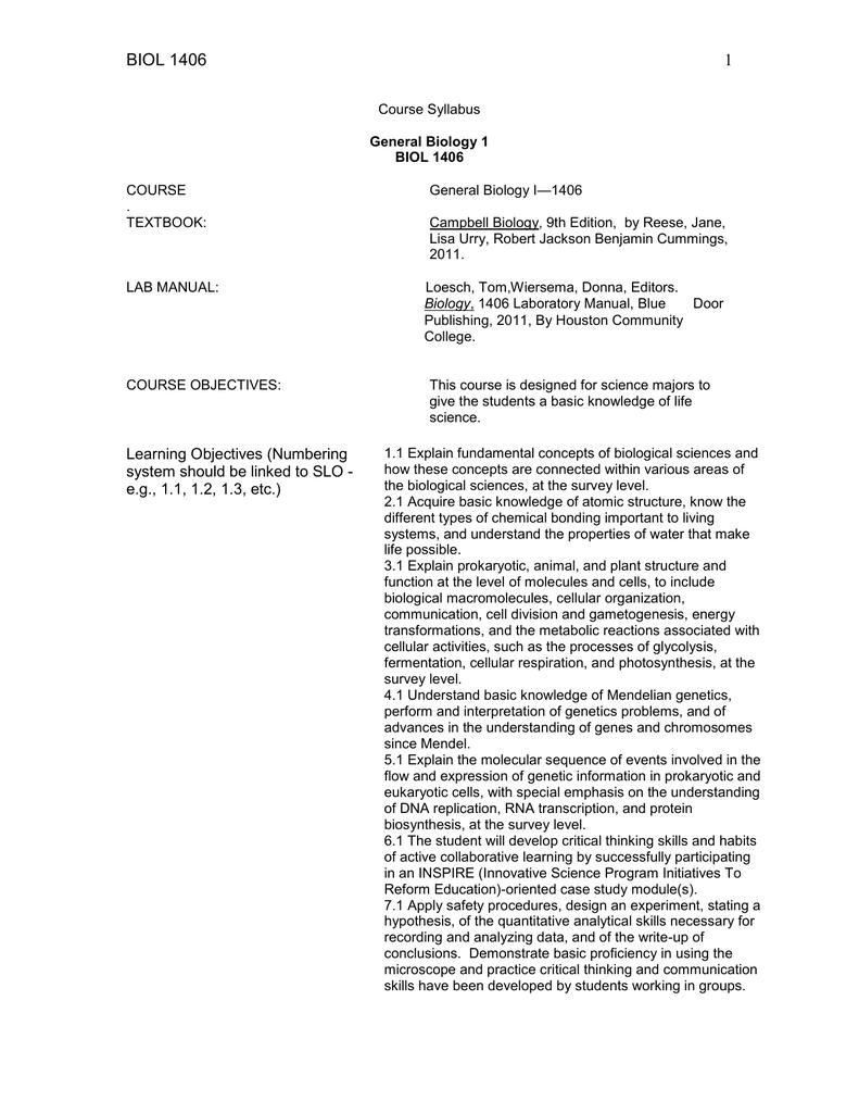 syllabus gen biology i m w 1 13 2014 doc rh studylib net