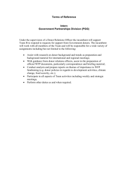 Terms of Reference  Intern Government Partnerships Division (PGG)