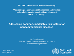"ECOSOC Western Asia Ministerial Meeting ""Addressing noncommunicable diseases and injuries:"