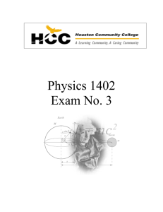 Physics 1402Test3.doc